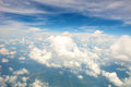 Cloudy sky background blue and white clouds pattern Royalty Free Stock Image