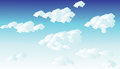 Cloudy sky with clouds in a summer day Royalty Free Stock Photography