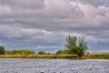 Cloudy sky in danube delta romania Stock Image