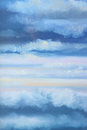 Cloudy sky oil color painting art Royalty Free Stock Images