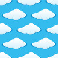 Cloudy sky seamless pattern for weather background or another design Royalty Free Stock Photos