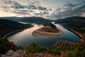 Cloudy sunset at Arda River, Bulgaria