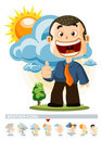 Cloudy. Weather Icon Royalty Free Stock Photography