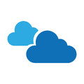 Cloudy weather isolated icon