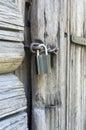 Clouse encima de la cerradura de puerta Fotos de archivo libres de regalías