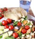 Clouse up salad freshness and healthy close Stock Photos
