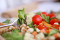 Clouse up salad freshness and healthy close Stock Images