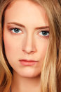 Clouseup porttrait close up portrait of a beautiful young woman Royalty Free Stock Images