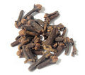 Clove fresh over white background Stock Images