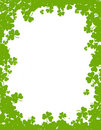 Clover background / border Royalty Free Stock Photo