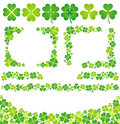 Clover decoration Royalty Free Stock Image