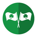 Clover flag ornate st patrick day shadow Royalty Free Stock Photo