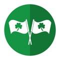 Clover Flag Ornate St Patrick ...