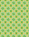 Clover floral pattern Stock Photos