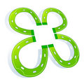 Clover horse shoe Royalty Free Stock Photography