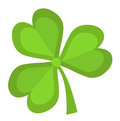 Clover, icon flat style. St. Patrick`s Day symbol. Isolated on white background.