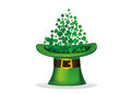 Clover inside the hat. The three-leaf leaves the cylinder. Patrick