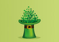 Clover inside the hat. The three-leaf leaves the cylinder.Patrick