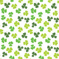 Clover leaf hand drawn doodle seamless pattern vector illustration. St Patricks Day symbol, Irish lucky shamrock background