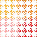 Clover leaf (good luck) knot seamless pattern Royalty Free Stock Photo