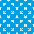 Clover leaf pattern seamless blue