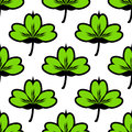 Clover leaf seamless vector pattern.