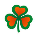Clover leaf whith hearts Royalty Free Stock Photo