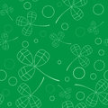 Clover leaves background. St. Patricks day . Seamless pattern. Vector
