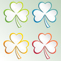 Clover leaves colorful vector set isolated on white background. Ecology concept. Flat design style.. St. Patricks Day vector.