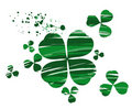 Clover painted with paint Stock Images