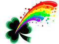 Clover and rainbow Stock Photos