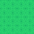 Clover seamless pattern in Celtic Style. St. Patrick`s Day endle