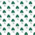 Clover seamless pattern in gouache paint. Fashion background for textile design. Wrapping and packaging paper. Saint