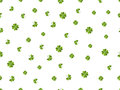 Clover seamless pattern. Green leaves on a white background. Vector