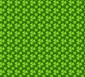 Clover seamless pattern. St. Patricks Day endless repeated backdrop, texture, wallpaper. Luck symbol . Vector