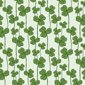 Clover seamless pattern. Vector swatch for fabric textile or packaging design.