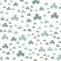 Clover three-leaf green pattern seamless.