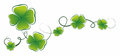 Cloverleaf simplified illustration of clover leaves as decorative element Stock Photo