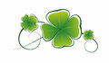 Cloverleaf simplified illustration of clover leaves as decorative element Royalty Free Stock Photography