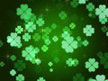 Clovers background Stock Image