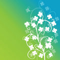 Clovers foliage on green background Stock Images