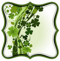 Clovers frame Royalty Free Stock Photos
