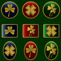 Clovers icons Royalty Free Stock Image