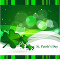 Clovers for st patrick s day vector illustration abstract green background with elements pattern with Royalty Free Stock Image