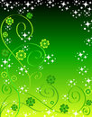 Clovers and stars Royalty Free Stock Images