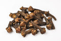 Cloves dried on white Royalty Free Stock Photography
