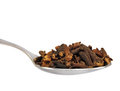 Cloves Macro Closeup Isolated Of Spoonful Spoon Royalty Free Stock Photography