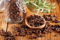 Cloves in the spoon Royalty Free Stock Photo