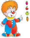 Clown Arkivbild