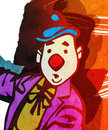Clown abstract background illustration of a with grunge texture Stock Photography